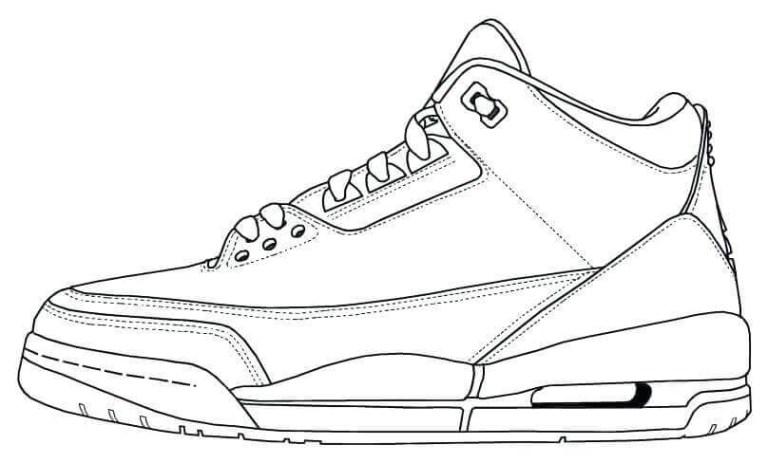 Jordan Sneakers Coloring Pages