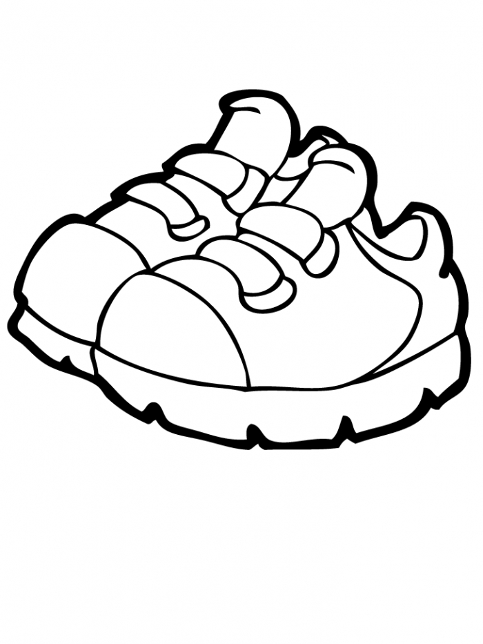 kids shoe coloring pages to download and print for free