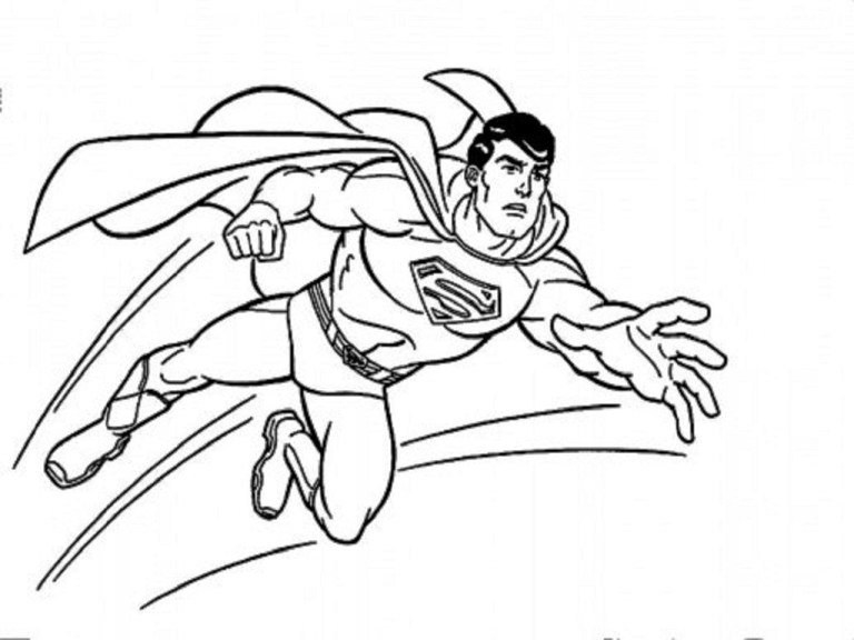 kids superman printable coloring pages