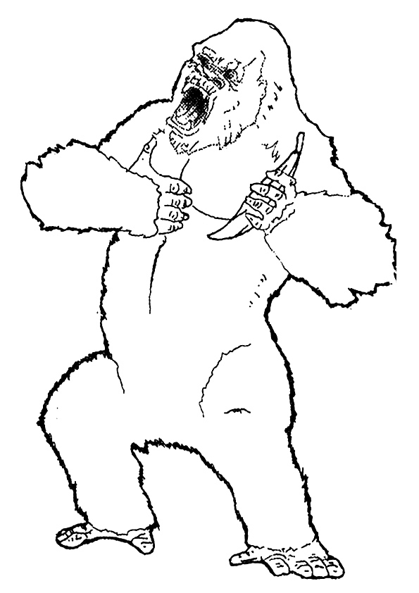 king kong coloring pages books free and printable
