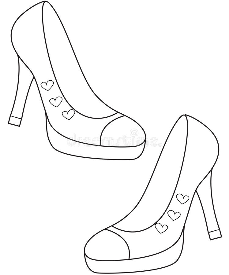 ladys shoes coloring page photo