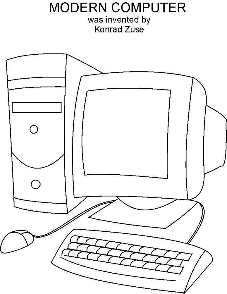 Laptop Coloring Pages