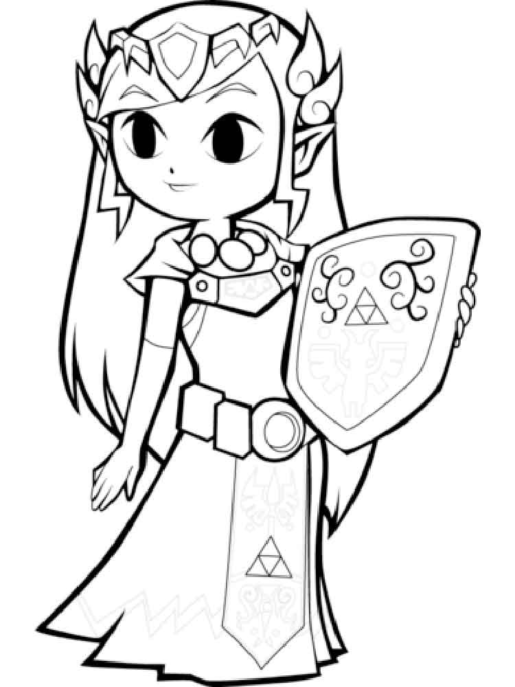 legend of zelda breath of the wild printable coloring pages
