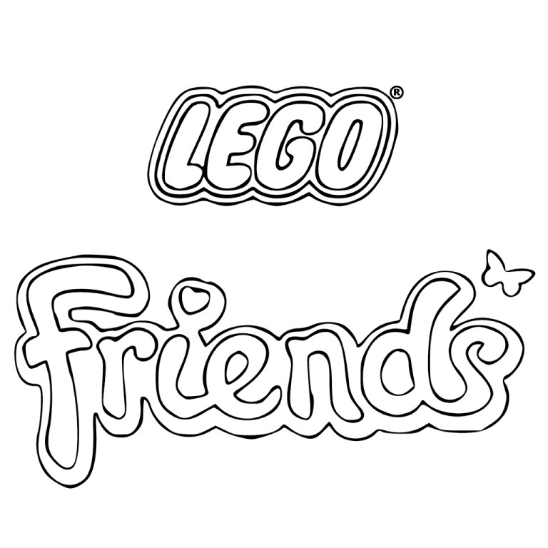 Lego Friends Colouring Sheets