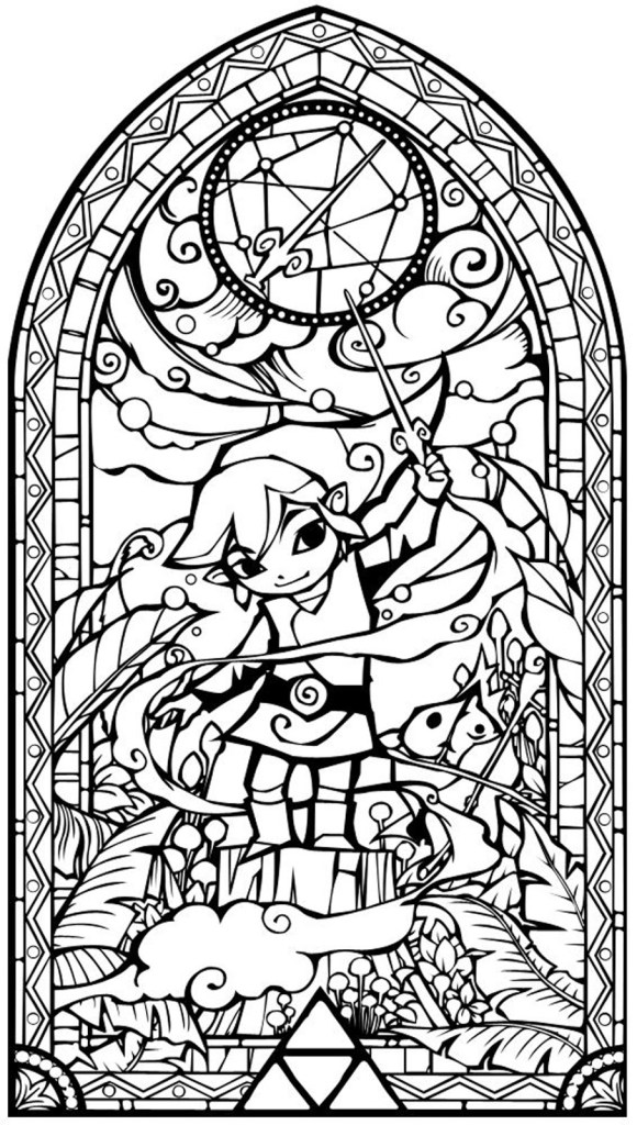 Link Coloring Pages Breath Of The Wild