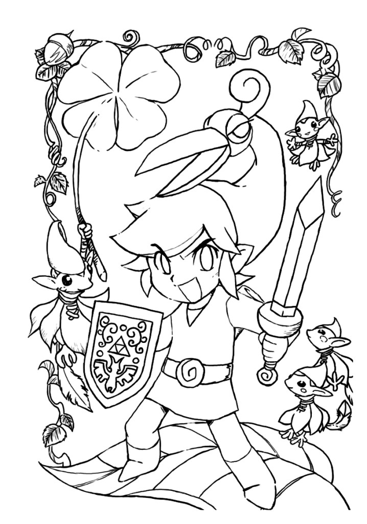Link Twilight Princess Coloring Pages