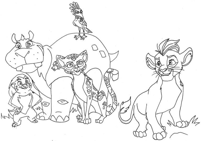 Lion Coloring Pic