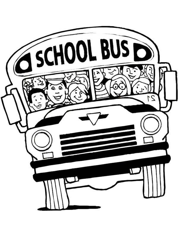 Magic School Bus Coloring Page