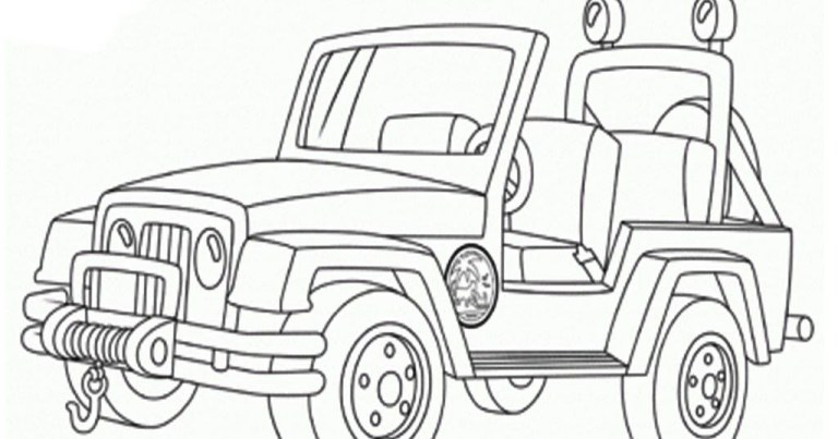 military Off Road Jeep Coloring Pages