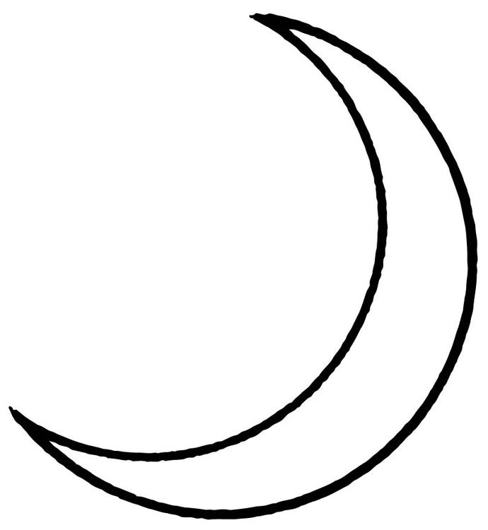 Moon Coloring Sheet