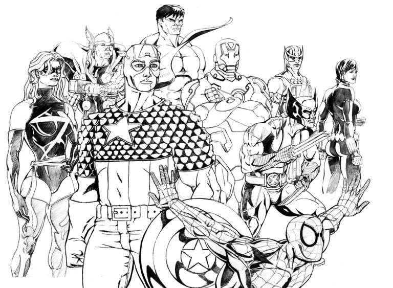 New Avengers Logo Coloring Pages