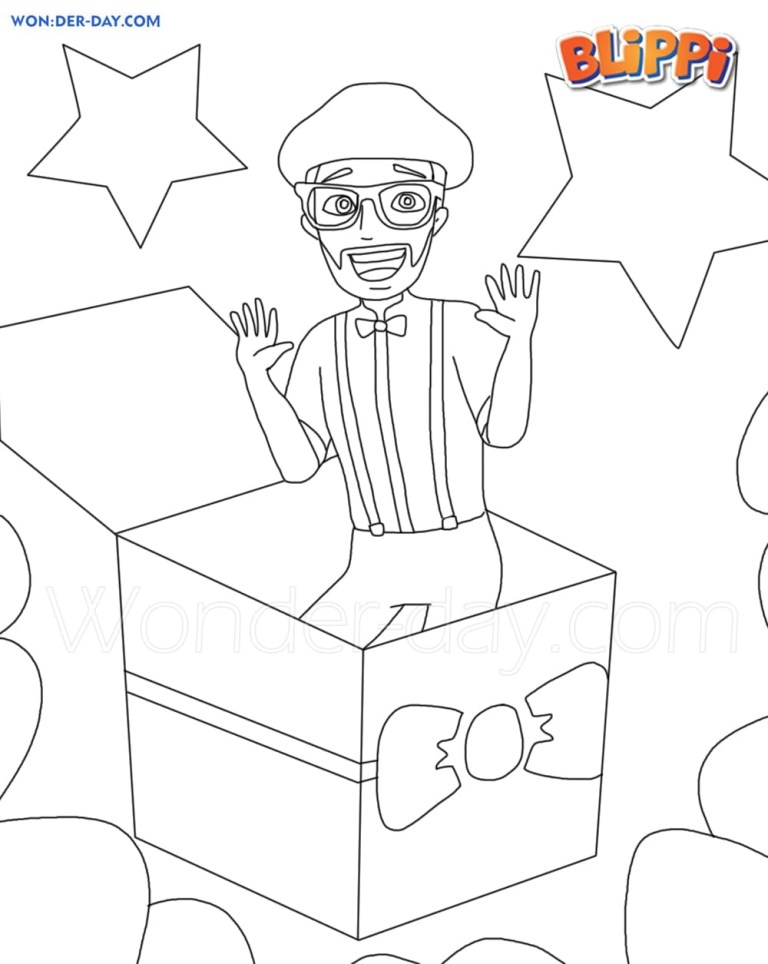 new blippi coloring pages to downloads