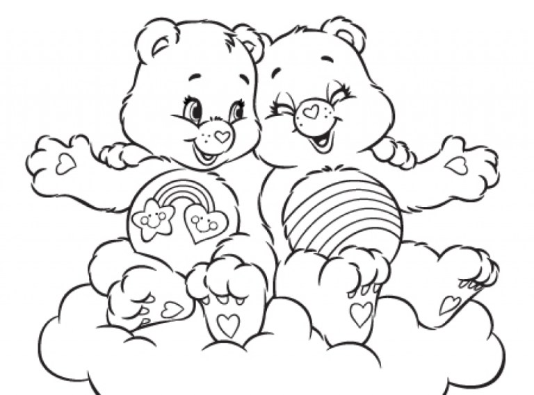 new care bear coloring pages online printable Collection