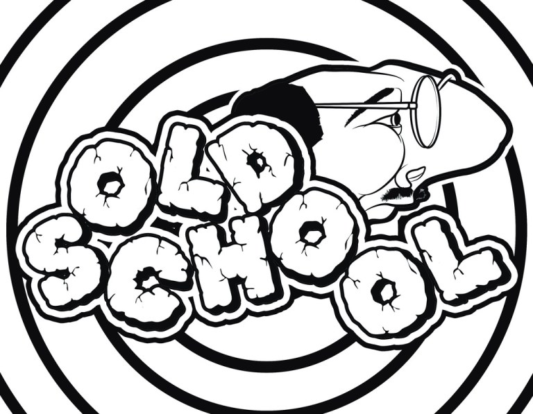 old school graffiti coloring pages for teens and adults