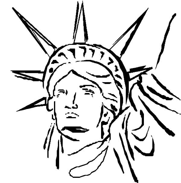 outline of statue of liberty