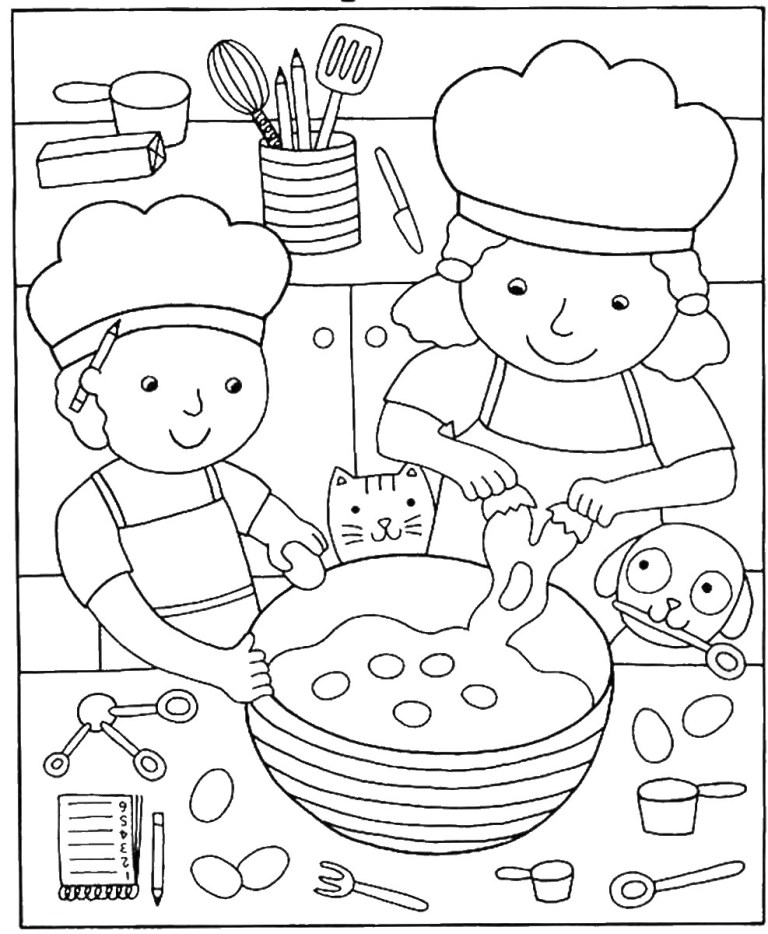 Pizza Pictures To Color