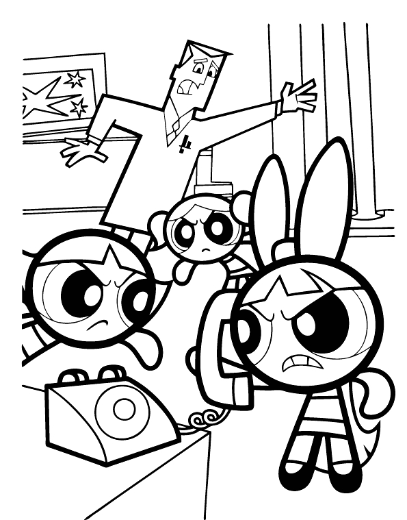 Powder Puff Girls Coloring Pages