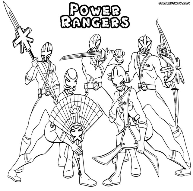 Power Ranger Color Pages