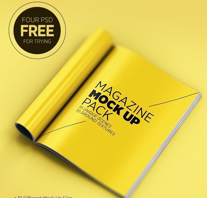 Print Ad Mockup Template Download