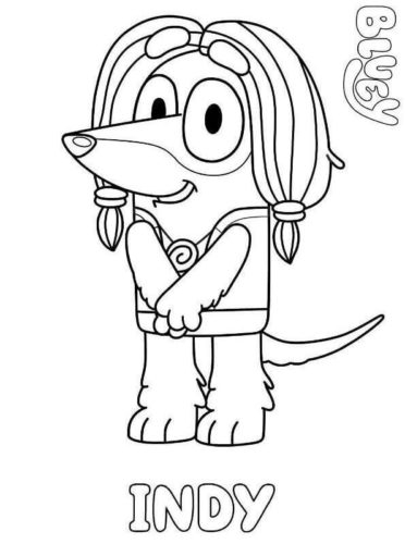 Printable Bluey Coloring Pages