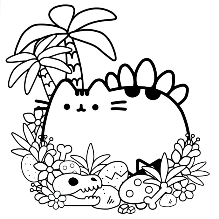 Printable Cute Pusheen Coloring Pages