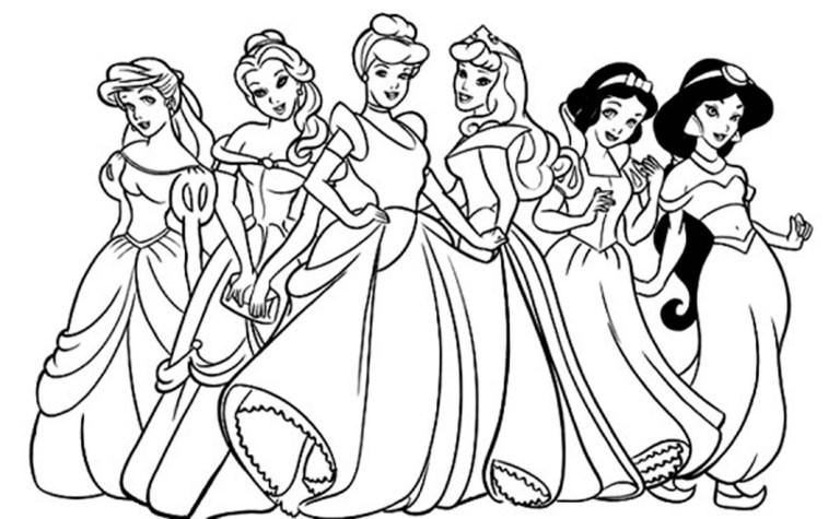 Printable Disney Princess Coloring Pages