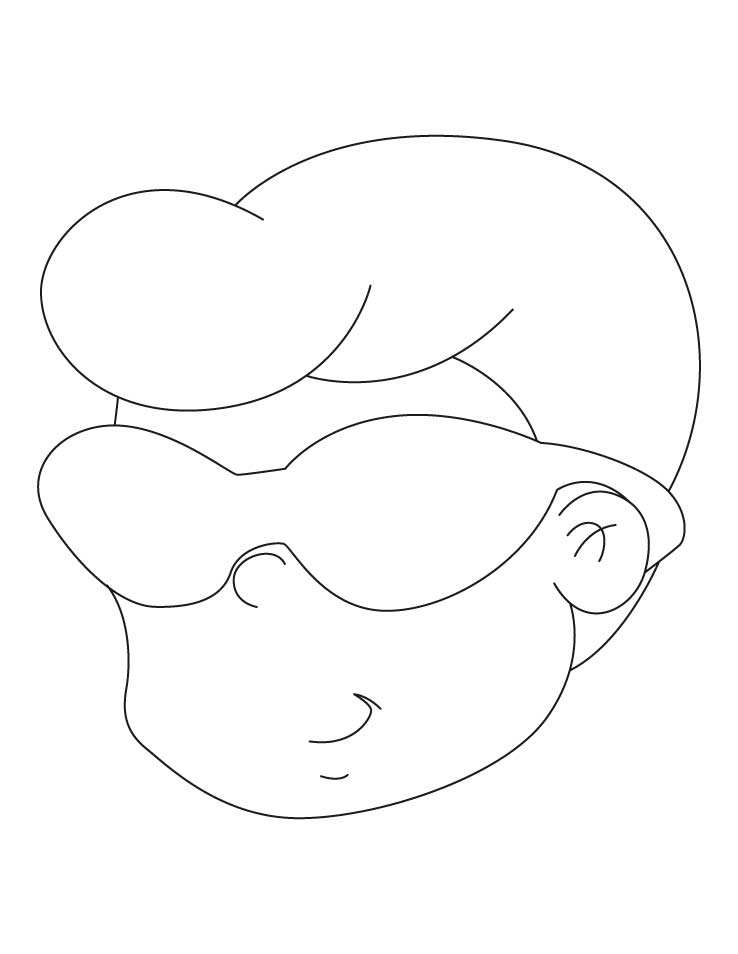 printable sunglasses coloring pages