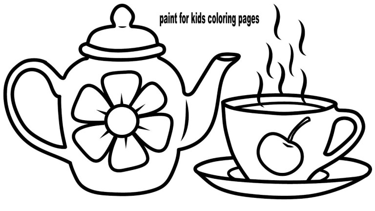 Printable Teacup Template