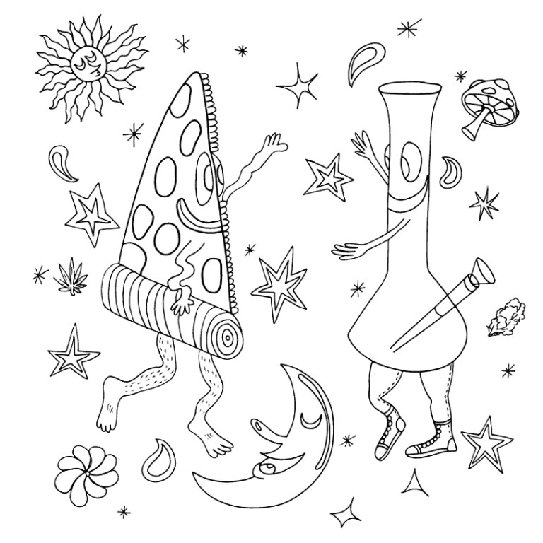 Printable Trippy Coloring Pages For Adults