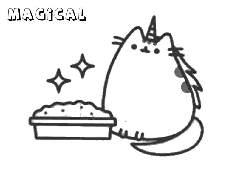 Pusheen Printable Coloring Pages