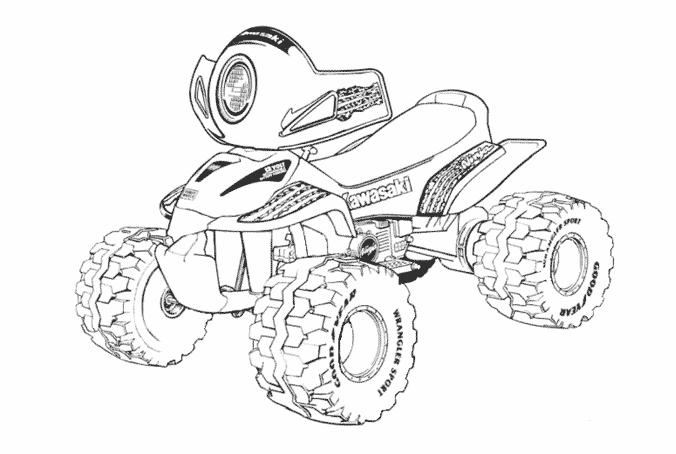 quad atv transportation printable coloring page online or offline