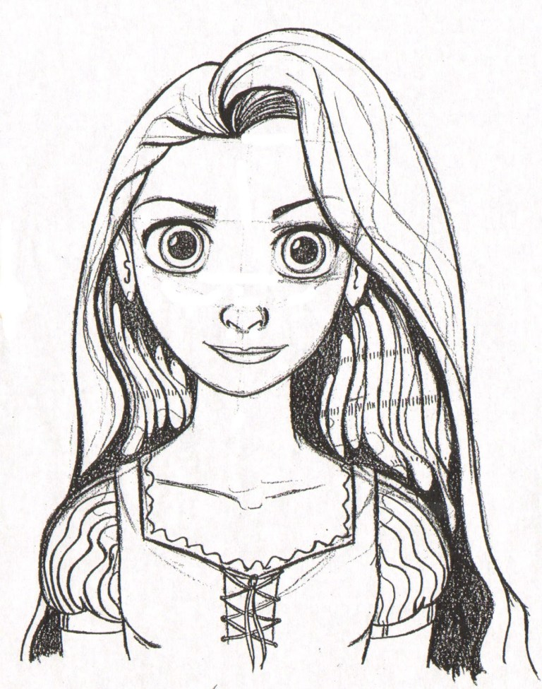 rapunzel and pascal coloring pages