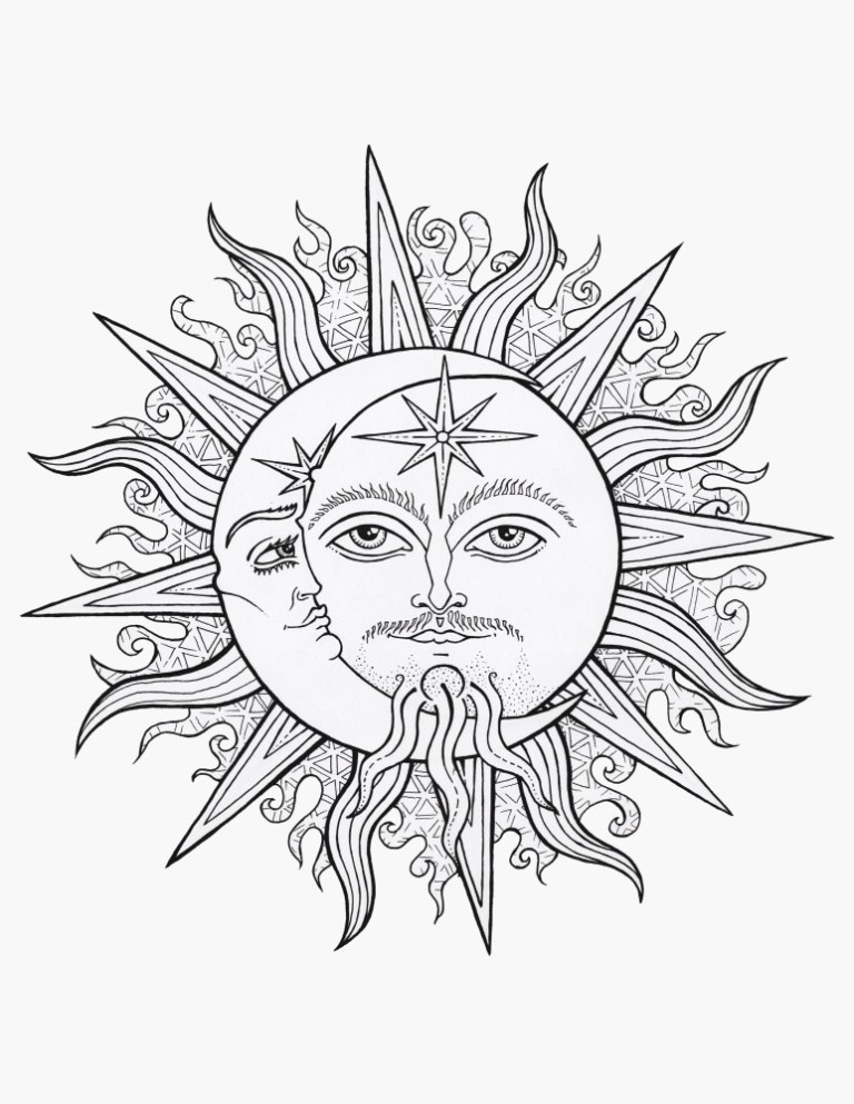 Realistic Moon Coloring Pages