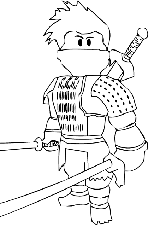 Roblox Printable Coloring Pages