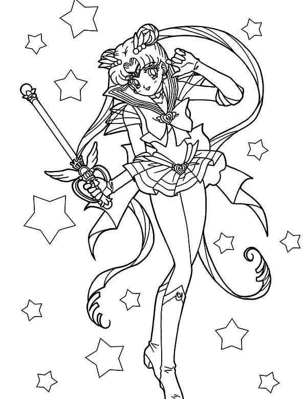 Sailor Moon Coloring Sheet