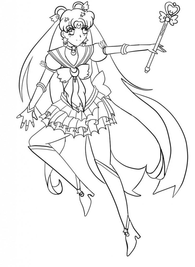 Sailor Moon Colouring Sheets
