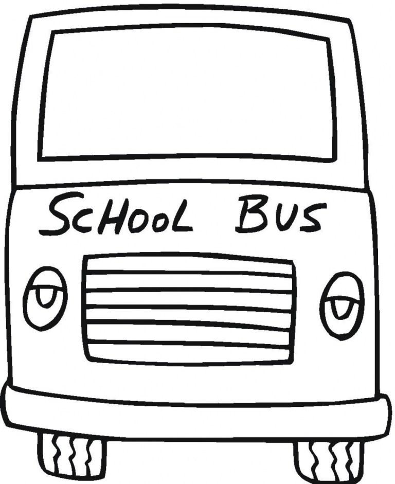 School Bus Coloring Picture