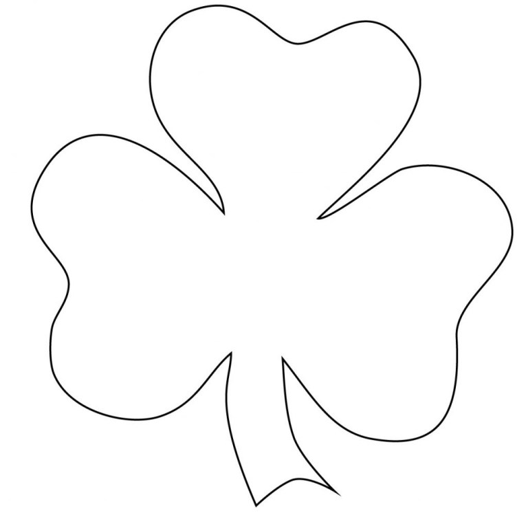 Shamrock Coloring Pages For Adults