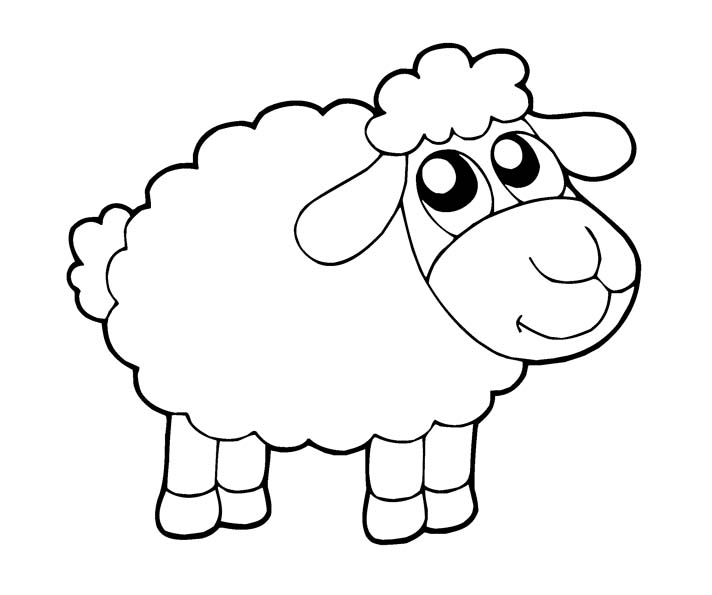sheep coloring page to print year 2022