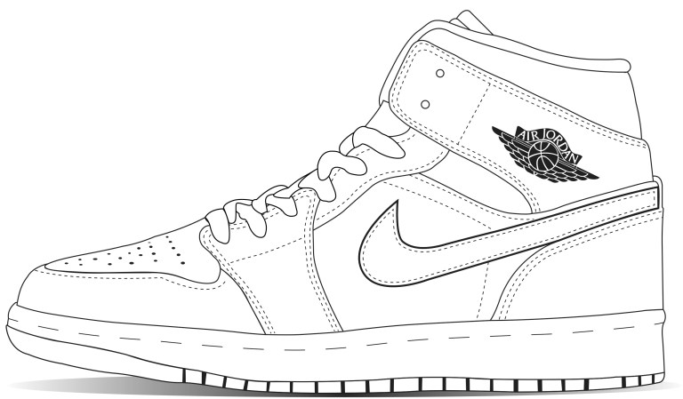 Shoe Coloring Pages Printable