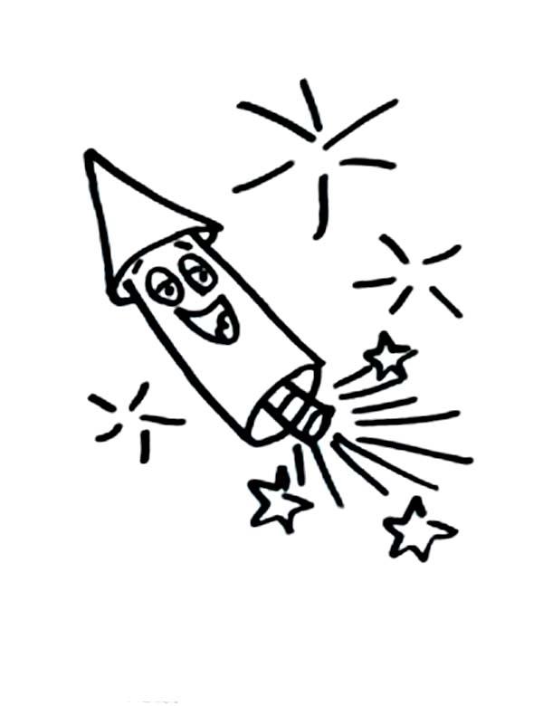 smiling fireworks rocket photos