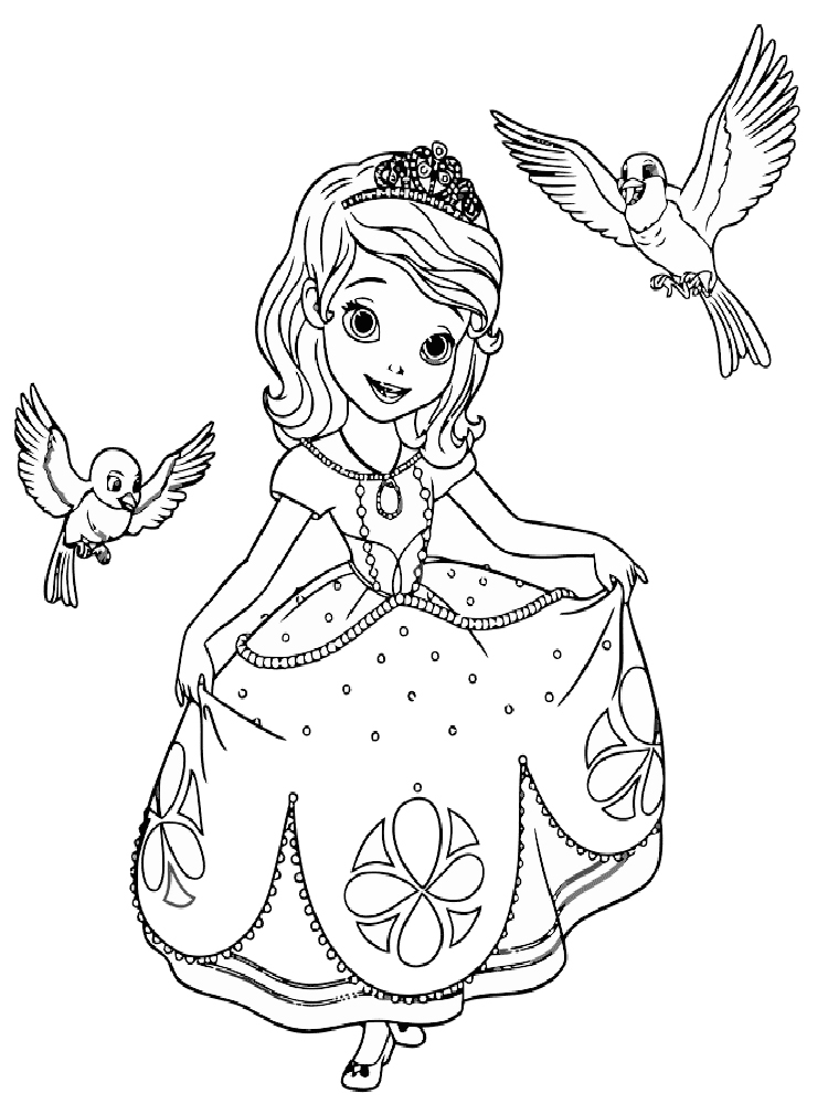 sofia the first free printable for girls
