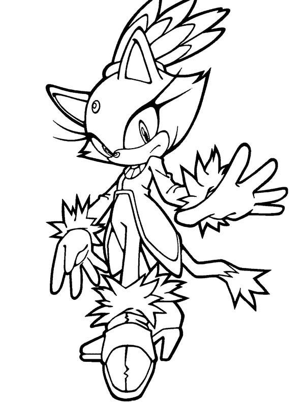 Sonic And Amy Coloring Pages