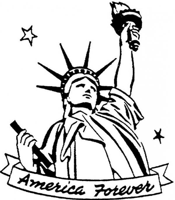 statue of liberty coloring sheets