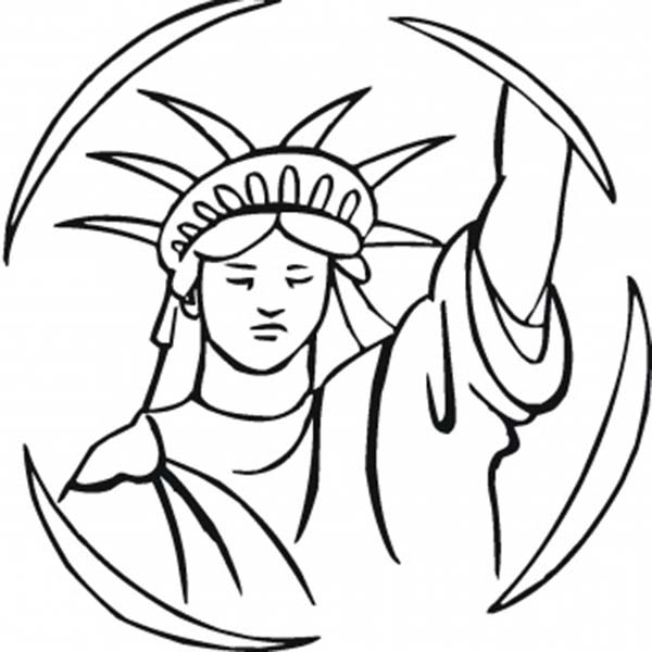 statue of liberty picture to color