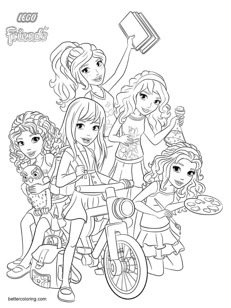 Stephanie Lego Friends Coloring Pages