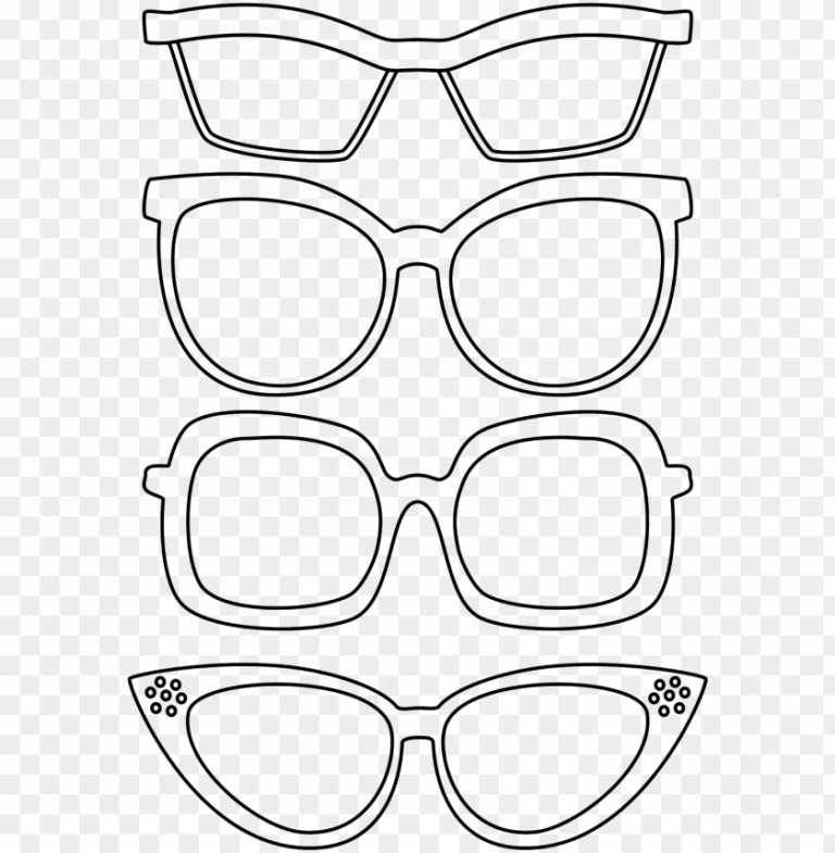 sunglasses coloring sheet