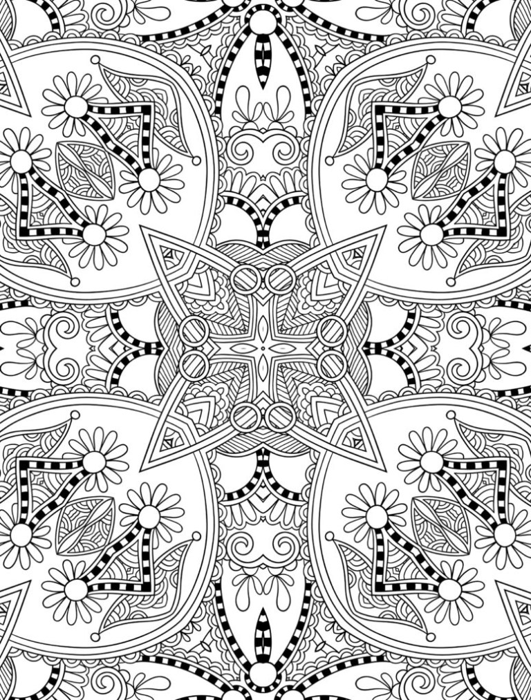 Super Hard Abstract Coloring Pages For Adults Animals