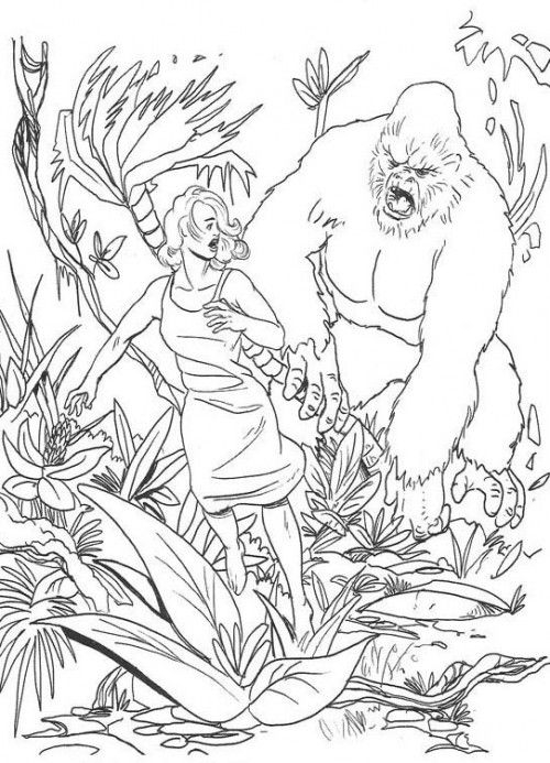 superb king kong supervillains printable coloring pages