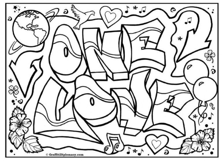 Swag Graffiti Coloring Pages